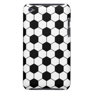 Adapted Soccer Ball pattern Black White Case-Mate iPod Touch Case