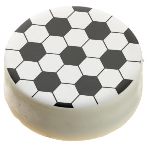 Adapted Soccer Ball pattern Black White Chocolate Dipped Oreo