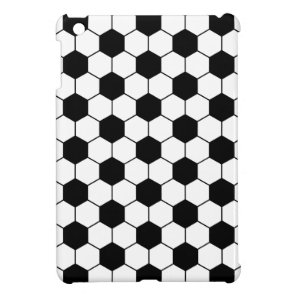 Adapted Soccer Ball pattern Black White Cover For The iPad Mini