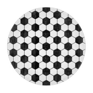 Adapted Soccer Ball pattern Black White Cutting Board