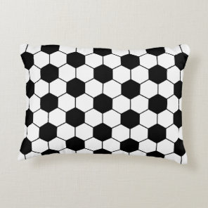 Adapted Soccer Ball pattern Black White Decorative Pillow