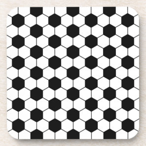 Adapted Soccer Ball pattern Black White Drink Coaster