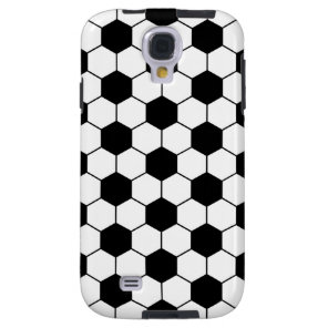 Adapted Soccer Ball pattern Black White Galaxy S4 Case