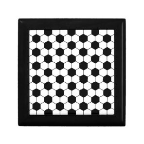 Adapted Soccer Ball pattern Black White Gift Box