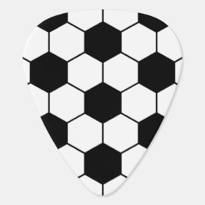 Adapted Soccer Ball pattern Black White Guitar Pick