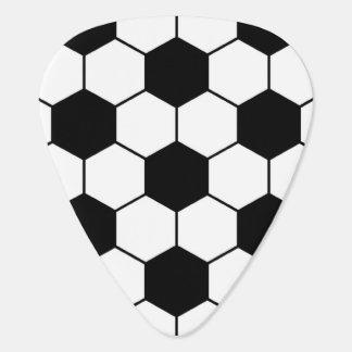 Adapted Soccer Ball pattern Black White Guitar Pick