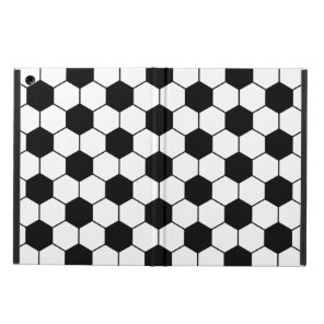 Adapted Soccer Ball pattern Black White iPad Air Case