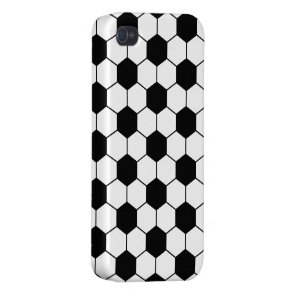 Adapted Soccer Ball pattern Black White iPhone 4 Case