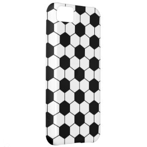 Adapted Soccer Ball pattern Black White iPhone 5C Case