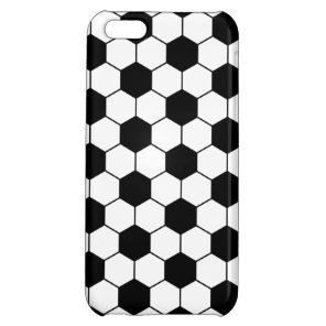 Adapted Soccer Ball pattern Black White iPhone 5C Cover