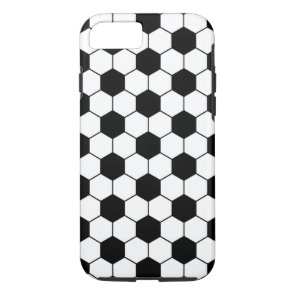 Adapted Soccer Ball pattern Black White iPhone 8/7 Case