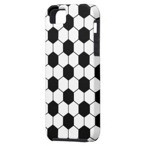 Adapted Soccer Ball pattern Black White iPhone SE/5/5s Case