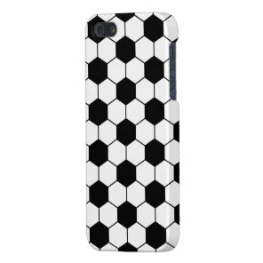Adapted Soccer Ball pattern Black White iPhone SE/5/5s Cover