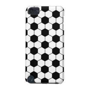 Adapted Soccer Ball pattern Black White iPod Touch 5G Case
