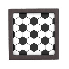 Adapted Soccer Ball pattern Black White Jewelry Box