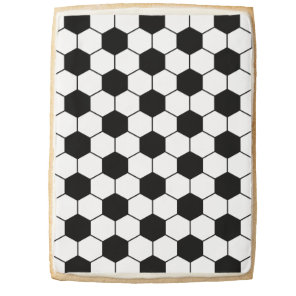 Adapted Soccer Ball pattern Black White Jumbo Shortbread Cookie