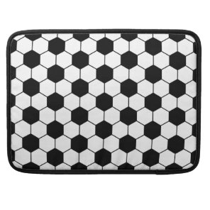 Adapted Soccer Ball pattern Black White MacBook Pro Sleeve