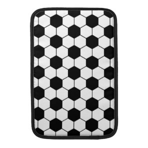 Adapted Soccer Ball pattern Black White MacBook Sleeve