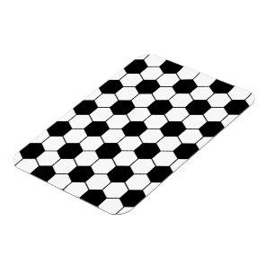 Adapted Soccer Ball pattern Black White Magnet