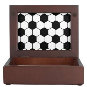 Adapted Soccer Ball pattern Black White Memory Box