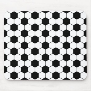 Adapted Soccer Ball pattern Black White Mouse Pad