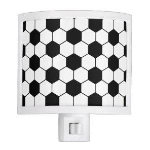 Adapted Soccer Ball pattern Black White Night Light
