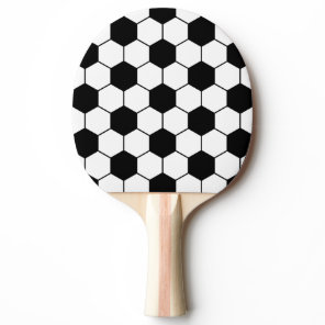 Adapted Soccer Ball pattern Black White Ping-Pong Paddle
