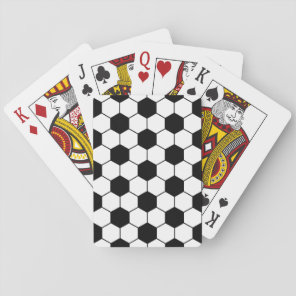 Adapted Soccer Ball pattern Black White Playing Cards