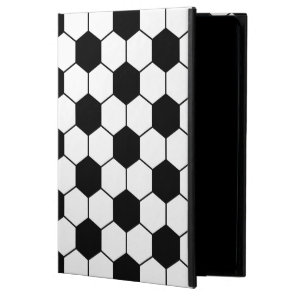 Adapted Soccer Ball pattern Black White Powis iPad Air 2 Case