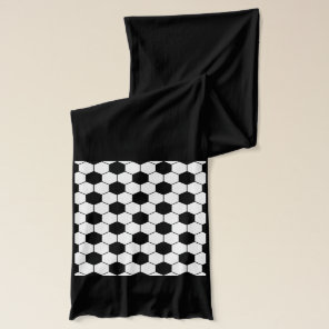 Adapted Soccer Ball pattern Black White Scarf