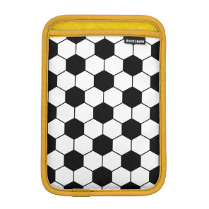 Adapted Soccer Ball pattern Black White Sleeve For iPad Mini