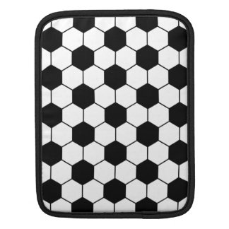 Adapted Soccer Ball pattern Black White Sleeve For iPads