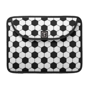 Adapted Soccer Ball pattern Black White Sleeve For MacBooks