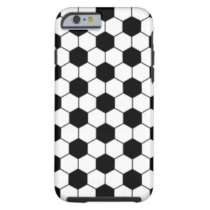 Adapted Soccer Ball pattern Black White Tough iPhone 6 Case