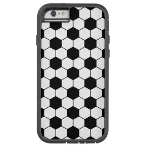 Adapted Soccer Ball pattern Black White Tough Xtreme iPhone 6 Case