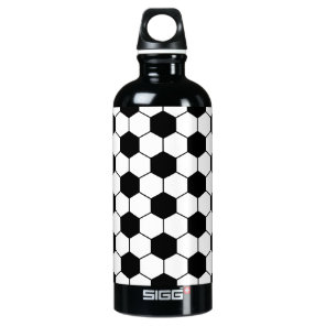 Adapted Soccer Ball pattern Black White Water Bottle