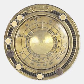 Adaptive Marconiscope de profesor Temple s Pegatinas Redondas