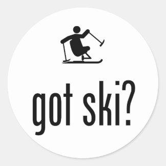 Adaptive Skiing Classic Round Sticker