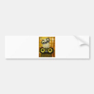 adaptP1040285crop8x10.jpg whimsical owl family Car Bumper Sticker