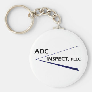 ADC Inspect Logo Basic Round Button Keychain