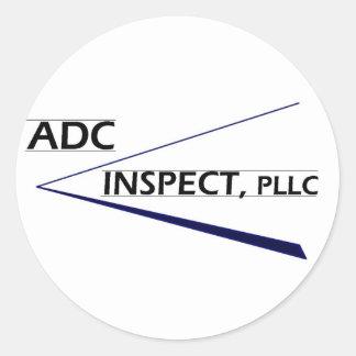 ADC Inspect Logo Round Sticker