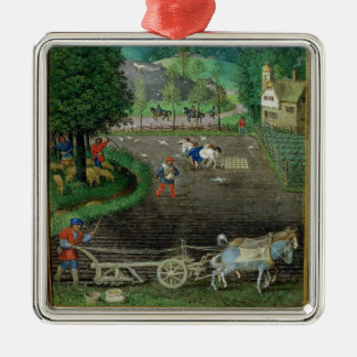 Add 18855 October: ploughing and sowing, from a Bo Metal Ornament
