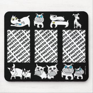 Add 3 Photos Mousepad White Dogs