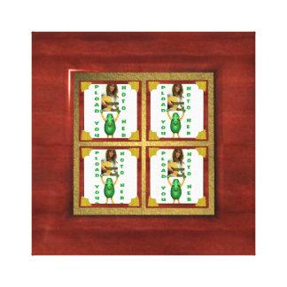 Add 4 photos to canvas border frame gallery wrap canvas