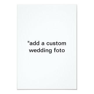 """""""add a 3d custom wedding FOTO"""" rsvp invitationz 3.5"""" X 5"""" Invitation Card"""
