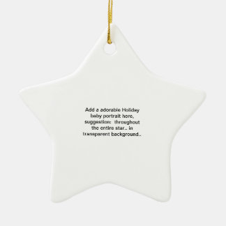 "add a adorable Holiday baby portrait ""foto"" here O Ceramic Ornament"