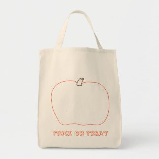 Add a face to your pumpkin Halloween canvas bags