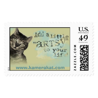 Add a little artsy to your life. postage stamps