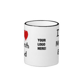 Add A Logo I Love Month End Accounting Quote Ringer Coffee Mug