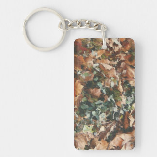 add a message camo acrylic Keychain